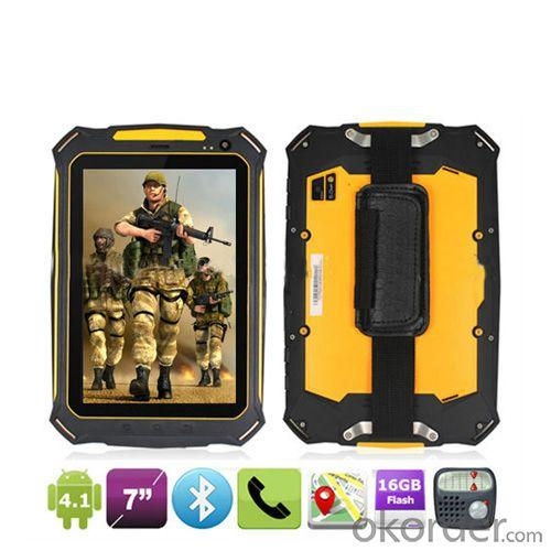 Ip67 Quad Core Waterproof Dustproof Shockproof With 3G Gps Wifi Bt Vatop 7&Quot; Rugged Android Tablet