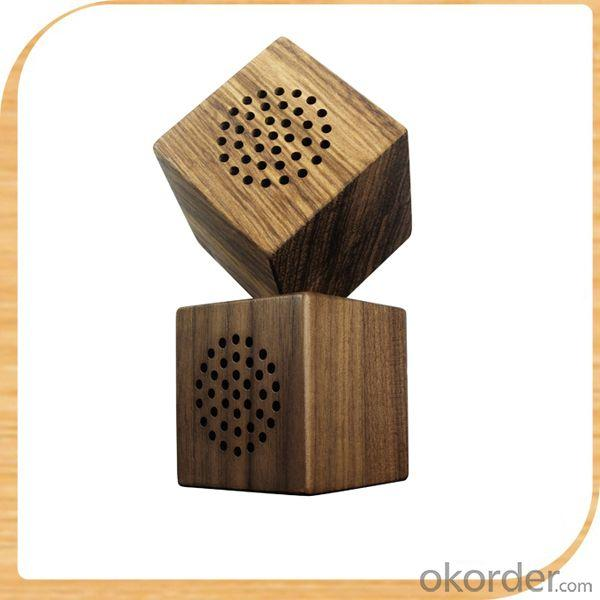 Wood USB Bamboo Portable Speaker And Wooden Bluetooth Speaker Wood Line In Speaker