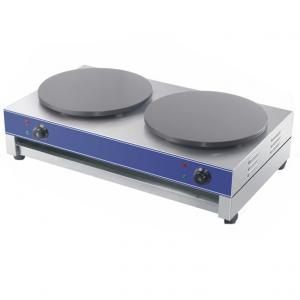 Electric Crepe Maker with Two 400mm Diameter Cast Iron Griddle Plates