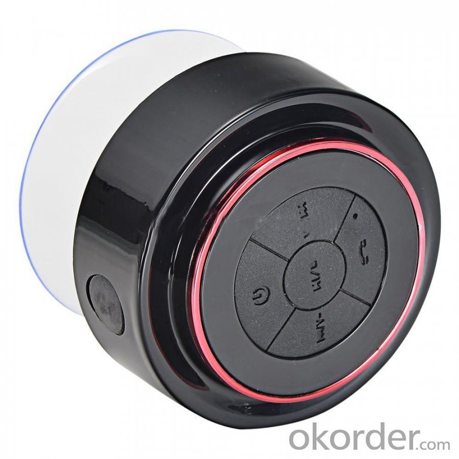 Shower Hands-Free Suction Cup In-Car Mic Ipx 7 Waterproof Bt Bluetooth Wireless Mini Speaker