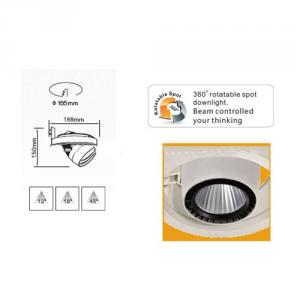 CE and Rohs Approval 40W COB Gimbal LED Downlight