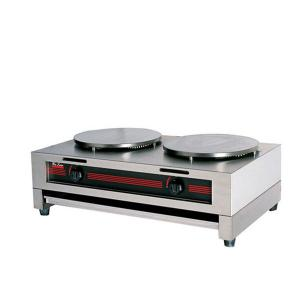 2-Head Gas Crepe Machine for Frying, Baking and Grill