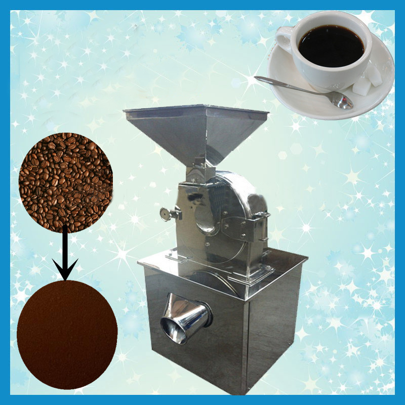 Stainless Steel Industrial Coffee Grinder Machine For Making Very Fine Coffee Powder