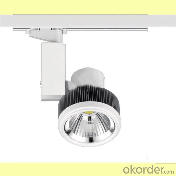 Cob 30W Dimmable Led Track Light 2200-2600Lm 24Degree Cob Led Track Light 25W 3 Phase 4 Wires