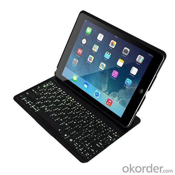 For Apple Ipad Air/ Ipad 5 Backlit Keyboard Case Illuminated Keyboard Ultrathin Cover Stand Bluetooth Keyboard