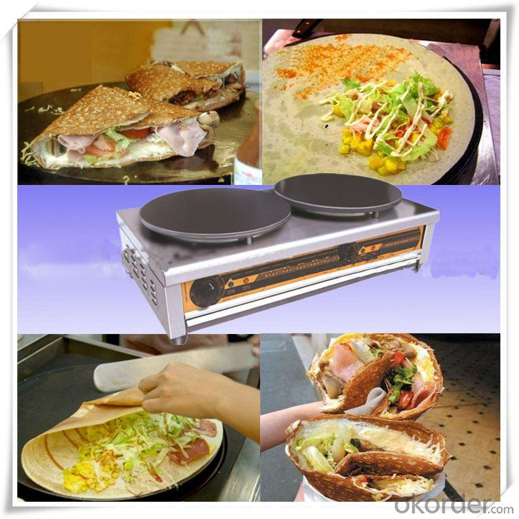 Stainless Steel Electric Crepe Maker Flexible Use