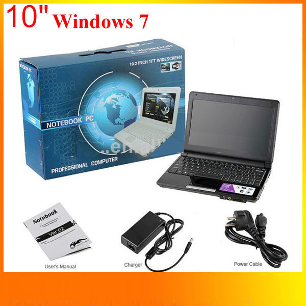 Shenzhen Ultra-thin Wholesale Used Laptop Computer 10.2inch Win7 Mini Laptop Dual Core Direct Bulk Buy Cheap Laptops from China