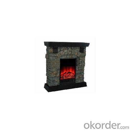 Polystone Mantel Electric Fireplace