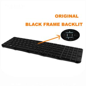 Laptop Keyboard For Hp Laptop Keyboard Replacement Pavilion Dv6-6000 With Frame US Black Keyboard 640436-001