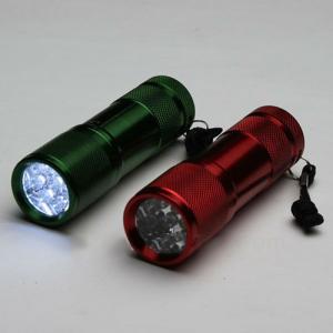 Super-Bright 9 LED Heavy Duty Compact Aluminum Flashlight Vary Color
