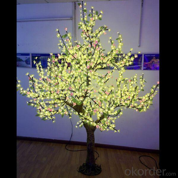 2.5M Outdoor LED Christmas Cherry Tree Light Fz-1536-3 Yellow From China Manufacturer