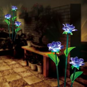 Plastic Solar Flower Outdoor Light For Garden (Dl-Srs400-3D) From China Factory