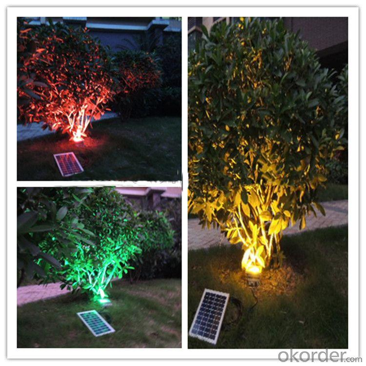 10V 3W LED Solar Outdoor Light With Battery For Fishpond, Tree Garden Irrigation, Fountains