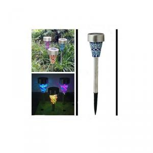 Solar Mosaic Garden Light, Glass Mosaic Solar Garde, Mosaic Glass Solar Decorative Lights For Garden