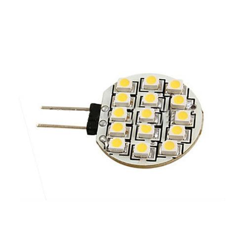 7080Lm 12V G4 LED Light 15 SMD 3528 1W G4 LED Spot SMD 3528 LED Lamp