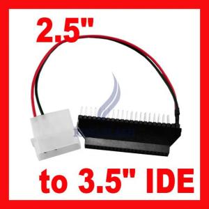 2.5 To 3.5 Ide Laptop Hard Disk Converter Adapter Power Cable 40 Pin Male To 44 Pin Female