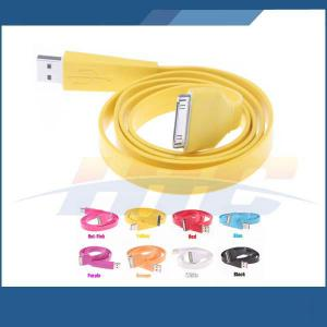 For Iphone 4 4G 4S Ipod Ipad Noodle Flat Usb Data Sync Charger Cable