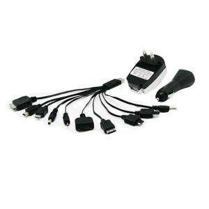 10 In 1 Cell Phone For Psp Digital Camera Usb Wall Car Charger Adapter
