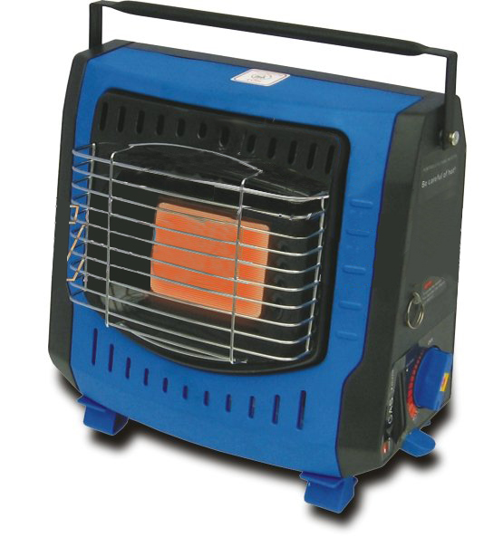 Gas Heater Made of Plastic and Enameled Steel