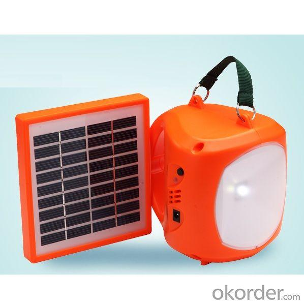 Newest Mobile Charge LED Solar Lamp 1.7W 9V Orange From China Manufacturer