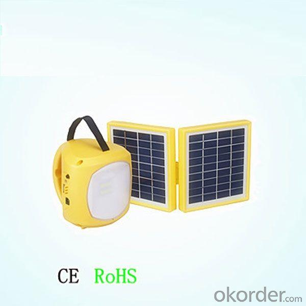 Solar Lantern With USB Mobile Charge Dual Solar Panel 3.4w 8 LED 4500mah 150 Hours By China Factory
