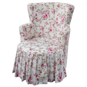 Pastoral Pattern Armchair Eco-friendly Fabric Durable and Comfortable