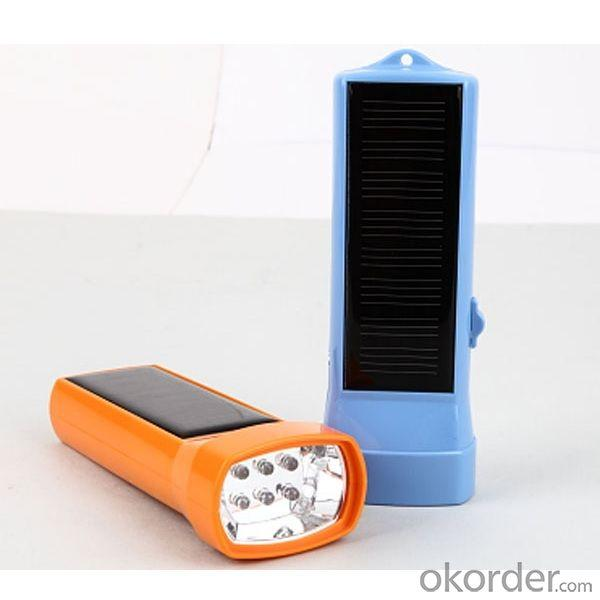 China Factory Quality Portable LED Solar Flashlight Solar Torch Light Solar LED Flashlight Blue