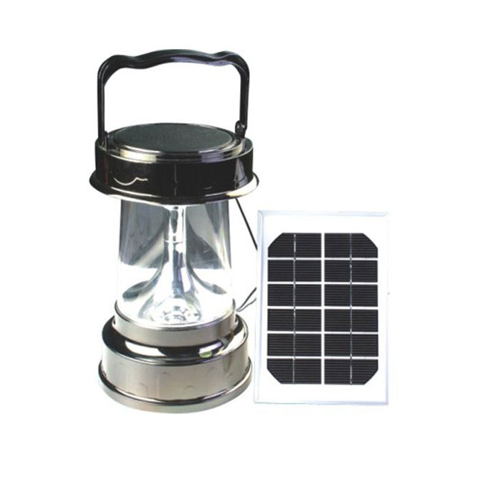 2014 New China Factory Mobile Charge 3W Hand-cranked Solar Lanterns 30 Hours With AC Charger Black