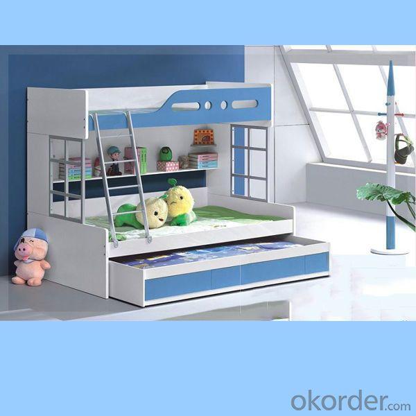 Light Blue + White Color Children Furniture Sets Kids Bedroom Furniture