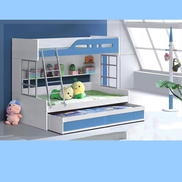 Light Blue + White Color Children Furniture Sets Kids Bedroom Furniture