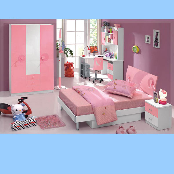 Cheap Childrens Bedroom Furniture Pink Color