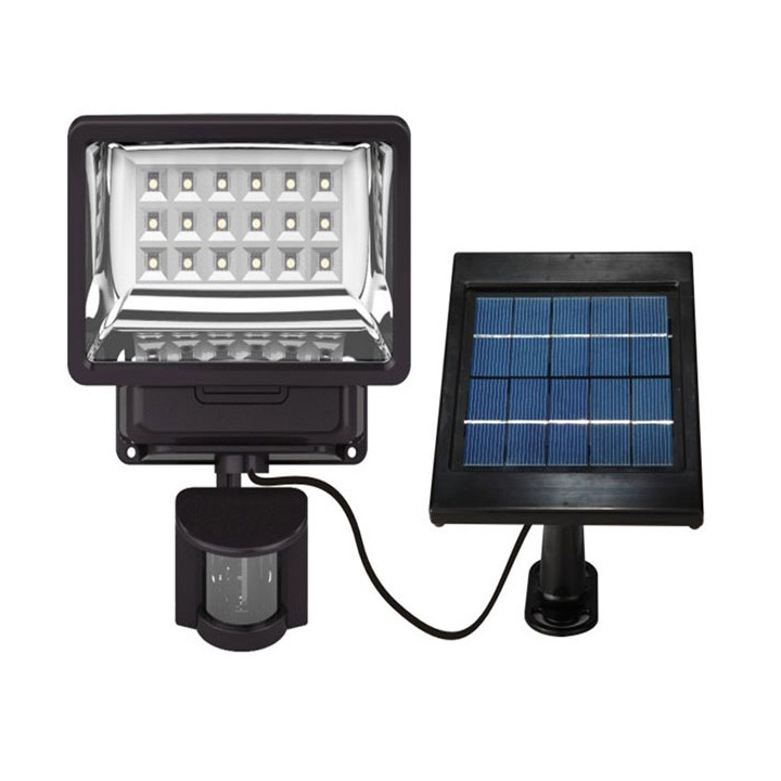 China Factory Motion Sensor Solar Light Indoor Dimmable LED Solar Lantern 160°10 meters 18 LED 300lm