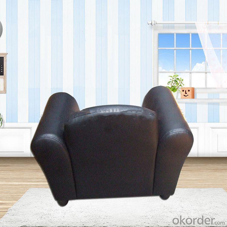 Black Single Sofa for Children Environmental PU Leather Non-toxic