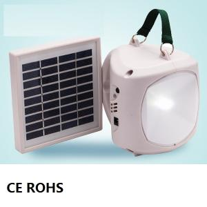 High Quality Super Bright Solar LED Bulb Solar Lantern With Mobile Charge 1.7W 9V Black