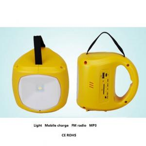 Solar Light Indoor Solar Lantern With USB Mobile Charge With MP3 Player And FM Radio From China Factory