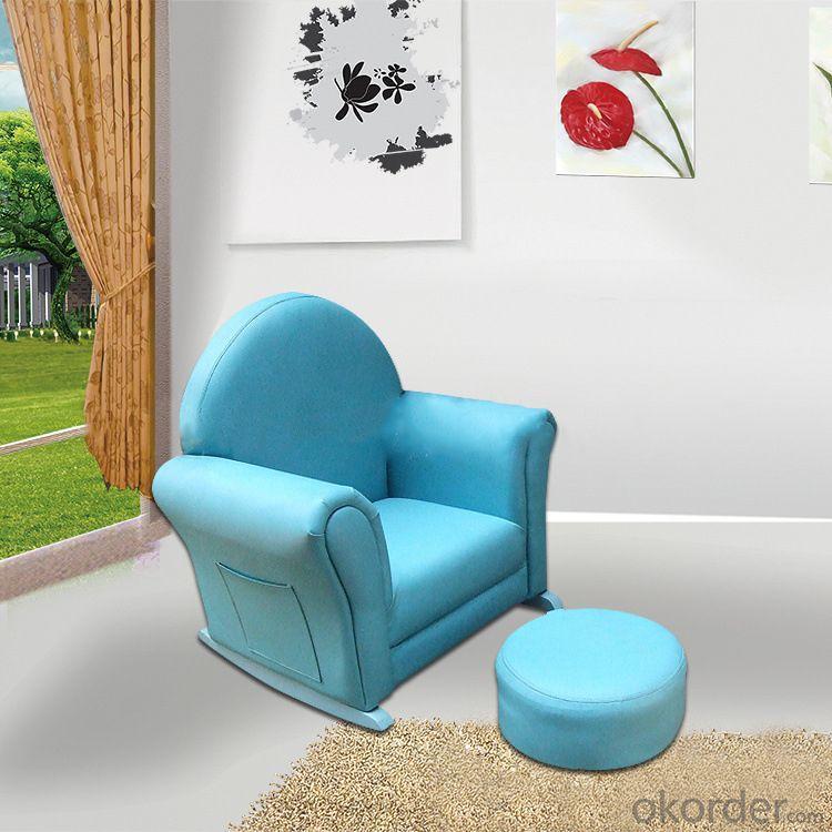 Star Pattern Blue Kids' Sofa Single Seat Eco-friendly High-elastic Foam
