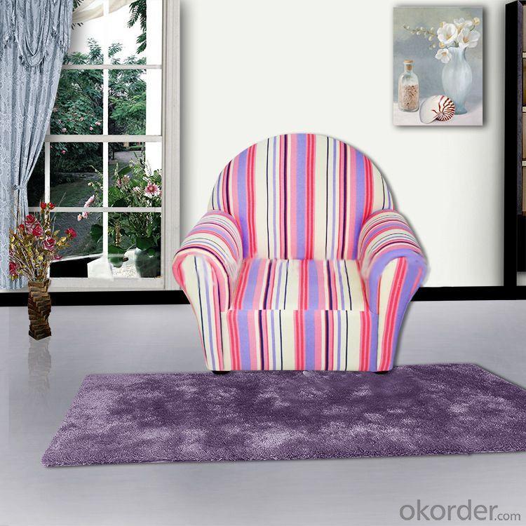 Strip Pattern Modern Sofa with High Density Flame Retardant Foam