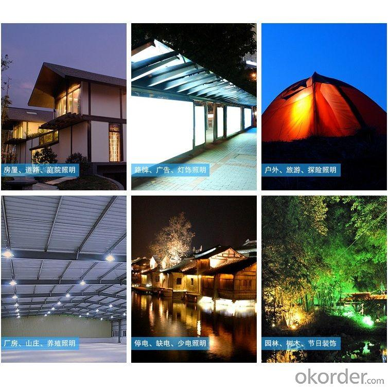 USB Mobile Charge Solar Light Outdoor 1.7W 9V 2600mah 130lm 100 hours From China Manufacturer