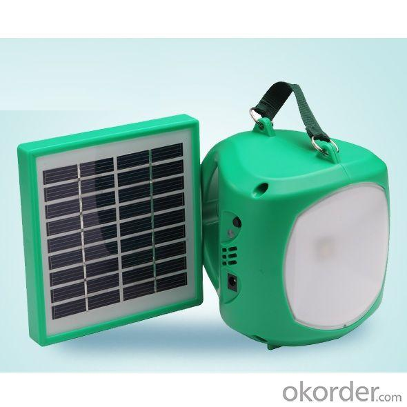 China Factory 2014 New Mobile Charge Solar Powered LED Light 1.7W 9V Yellow