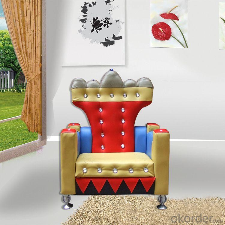 Emperor Pattern Kids' Single Sofa Creative Design Comfortable