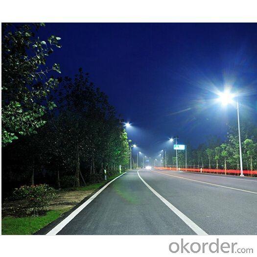 CE ROHS certificate High Brightness 40W LED Solar Street Light 140W Solar Panel 6m Pole IP66