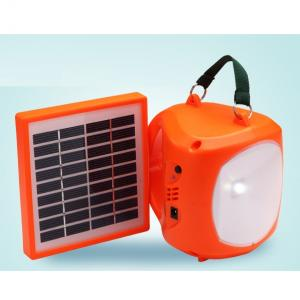 From China Factory Super Bright Solar Lantern With Mobile Charge 1.7W 9V Blue