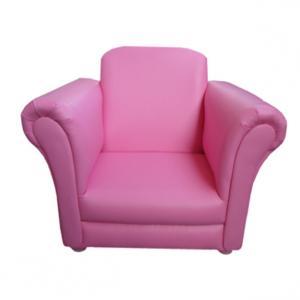 Elegant Children's Single Sofa Pink PU Leather Comfortable