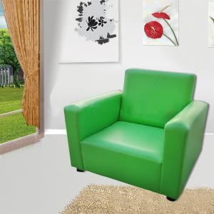 Green Kids' Sofa Soft Sponge High-elastic Foam Ergonomic Design