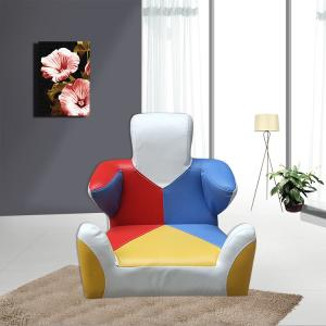 Cartoon Robot Style Kids' Sofa with Grid Comfortable Space-saving