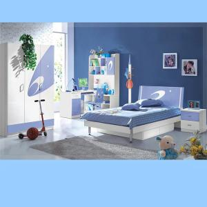Cheap Children Bedroom Furniture Blue Kids Funiture Sets