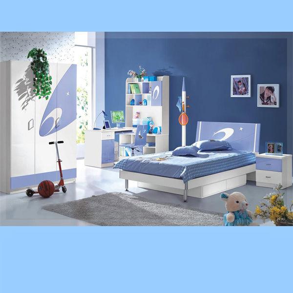 Cheap Children Bedroom Furniture Blue Kids Funiture Sets