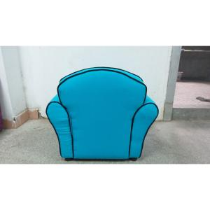 Blue Fabric Sofa for Kids with High-elastic Foam Customized Pattern