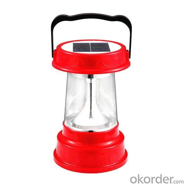 Super Bright Solar LED Lantern Double Solar Panel Charge With AC Charger 8 LED 23 Hours CE