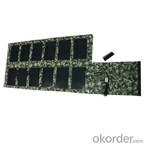 2014 Hot Selling Camouflage 42w Solar Foldable Charger 5V 2100mah 18V 2000mah For Smartphone Tablet PC Laptop
